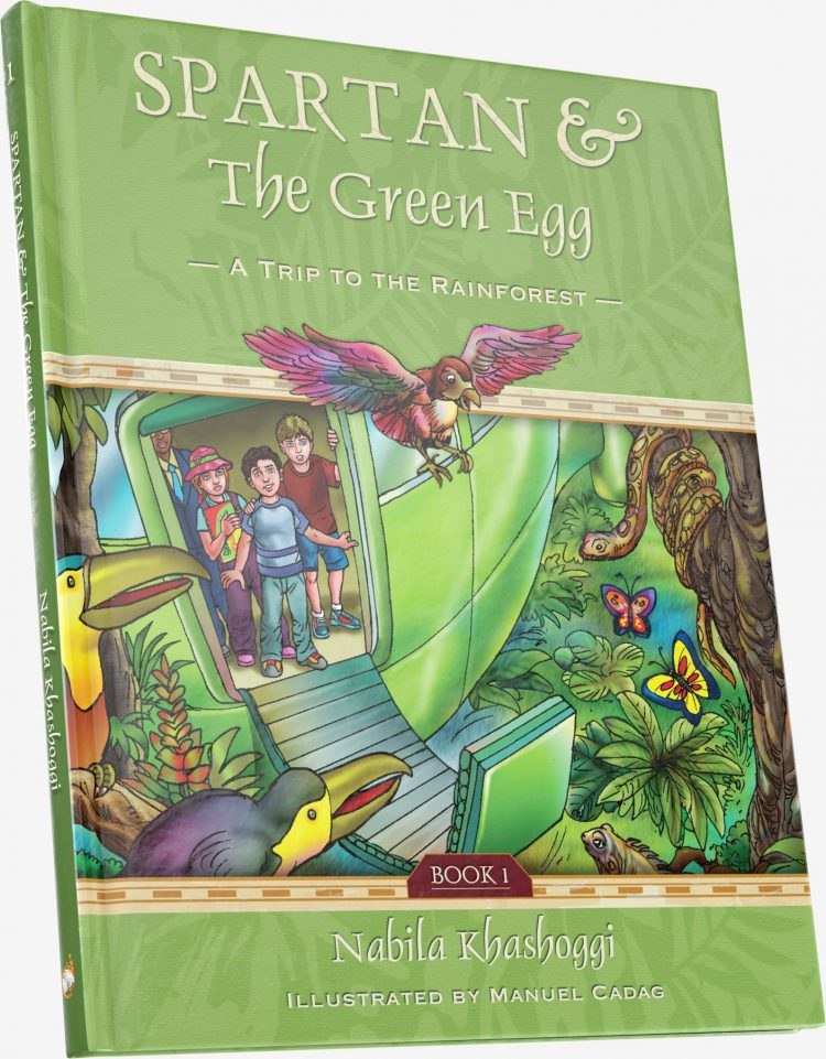 Spartan and the Green Egg: Book 1 A Trip to the Rainforest, book cover