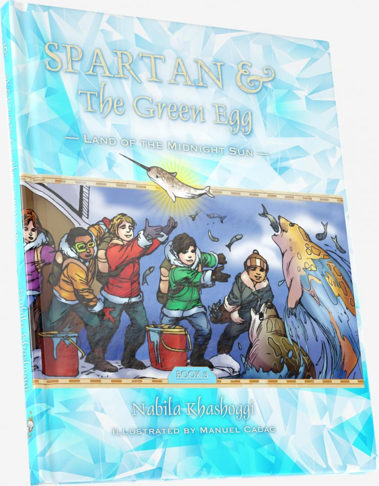 Spartan and the Green Egg: The Land of the Midnight Sun, book cover
