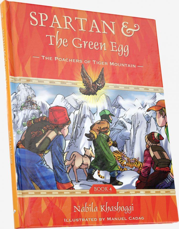 Spartan and the Green Egg, Book 4: Poachers of Tiger Mountain, book cover