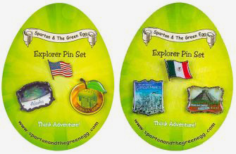 Spartan and the Green Egg Pin Set for the United States and Mexico