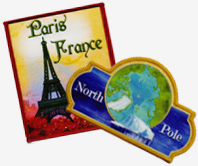 Paris, France and North Pole Patches