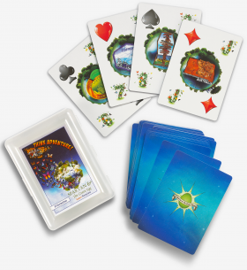 spartan and the green egg themed playing cards