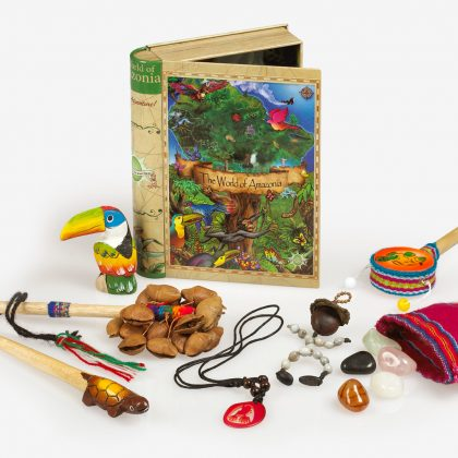 The World of Amazonia which has toys of the amazon such as necklaces, trinkets and bracelets