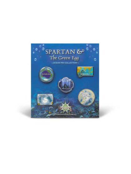 Spartan and the Green Egg Ocean Pin Collection